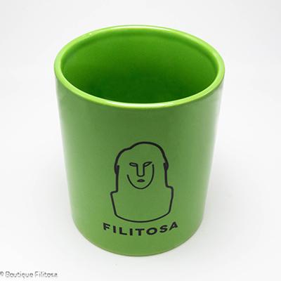MUG vert Filitosa IX face haut