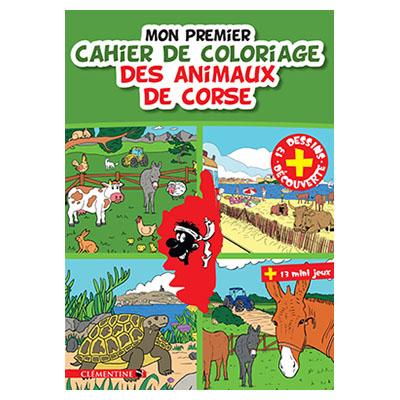 Mon premier cahier de coloriage des animaux de Corse recto